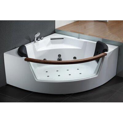 59 x 59 Corner Whirlpool Bathtub
