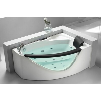 59 x 39 Corner Whirlpool Bathtub Drain Location: Left