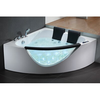 61 x 61 Double Seat Corner Whirlpool Bathtub