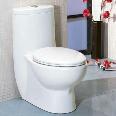 Tall Dual Flush Elongated One-Piece Toilet