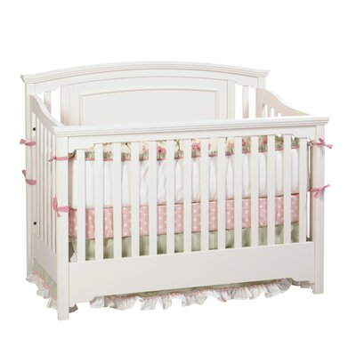 Veneto Convertible Crib Finish: Snowdrift 8121-74