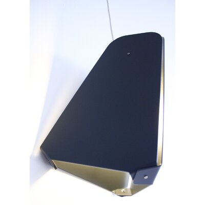Ceiling Light No.1 Color: Dark Matte Grey, Cord: White Cord - Hardwired with Canopy