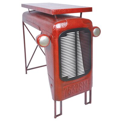 Industrial Heritage Tractor End Table Color: Red