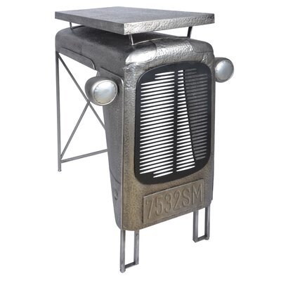 Industrial Heritage Tractor End Table Color: Silver