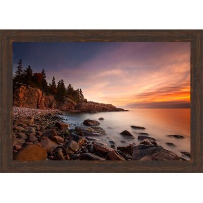 'Coastal Daybreak' Framed Photographic Print