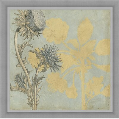 In Bloom 'Shadow Floral I' Framed Painting Print 4347