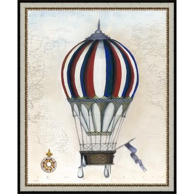Trends Vintage Hot Air Balloons VI Framed Graphic Art 4624