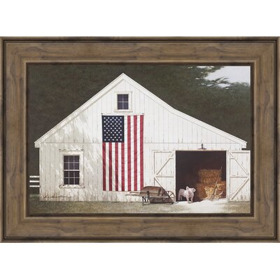 'Barn with Piglet' Framed Photographic Print 6098
