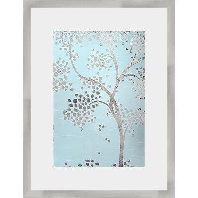'Metallic Tree I' Framed Graphic Art Print