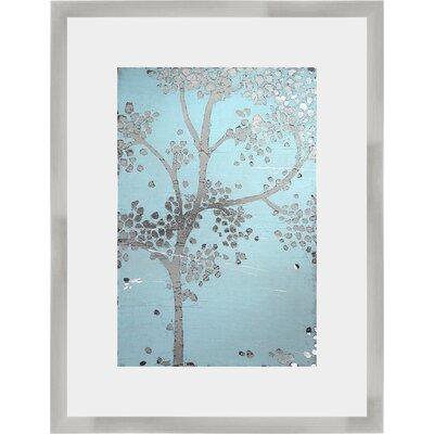 'Metallic Tree II' Framed Graphic Art Print