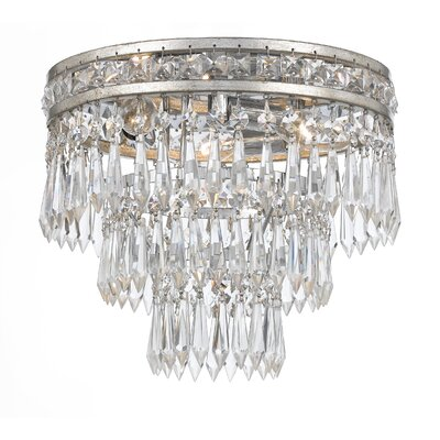 Mercer 3-Light Flush Mount Finish: Olde Silver