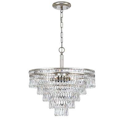 Mercer 6-Light Crystal Chandelier Finish: Olde Silver