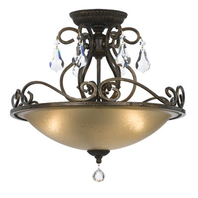 Shaughnessy 3-Light Semi Flush Mount Finish: English Bronze