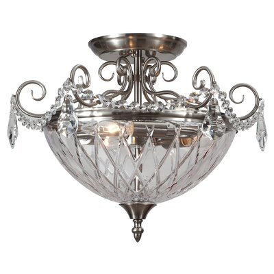 Avery 3-Light Semi Flush Mount Finish: Polished Chrome
