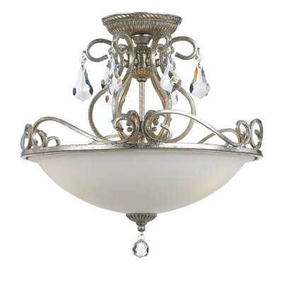 Shaughnessy 3-Light Semi Flush Mount Finish: Olde Silver