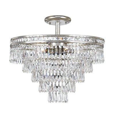 Mercer 6-Light Semi Flush Mount Finish: Olde Silver