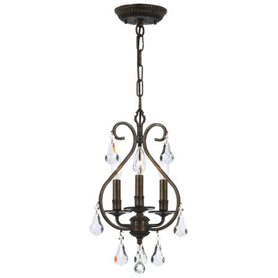 Shaughnessy 3-Light Foyer Pendant Finish: English Bronze