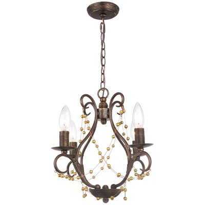 Angelina 4-Light Candle-Style Chandelier