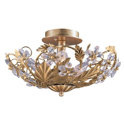 Abbie Floral 6-Light Semi Flush Mount Finish: Gold Leaf