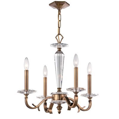 Hugo 4-Light Candle-Style Chandelier Finish: Roman Bronze