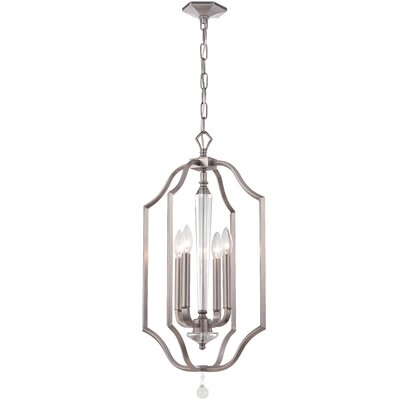 Hugo 4-Light Foyer Pendant Finish: Pewter