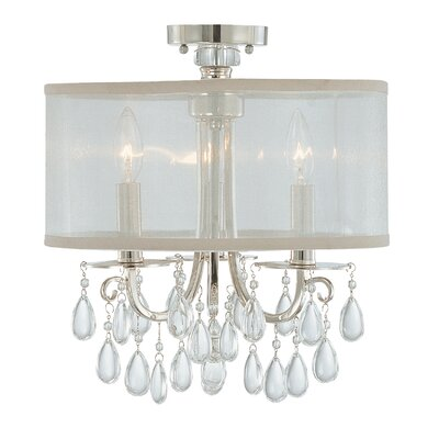 Aayush Contemporary 3-Light Semi Flush Mount