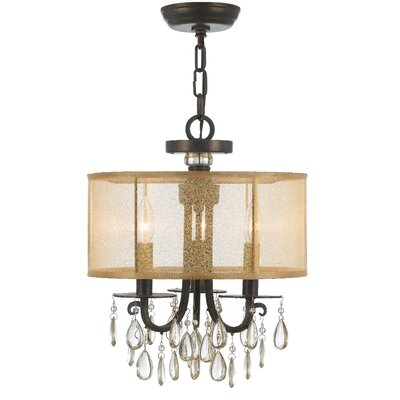 Aayush Transitional 3-Light Drum Chandelier