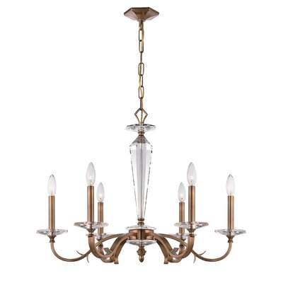 Hugo 6-Light Candle-Style Chandelier Finish: Roman Bronze