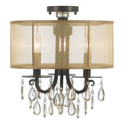 Hampton 3-Light Semi Flush Mount