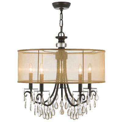 Aayush 5-Light Drum Chandelier Finish: English Bronze