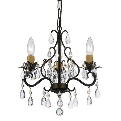 Clifton 3-Light Crystal Chandelier