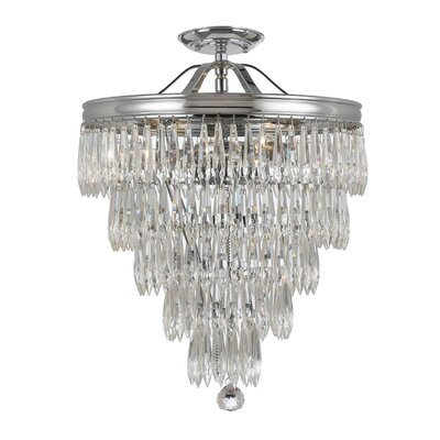 Zak 3-Light Semi Flush Mount