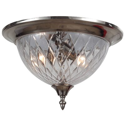 Avery 3-Light Flush Mount Finish: Polished Chrome