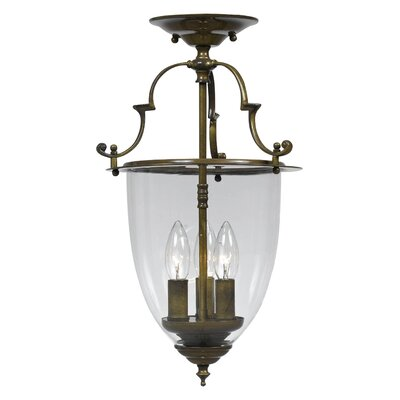 Camden 3-Light Semi Flush Mount