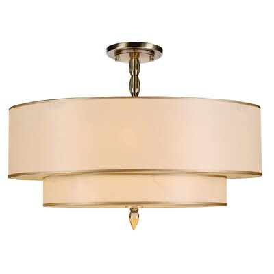 Luxo 5-Light Semi Flush Mount Finish: Antique Brass