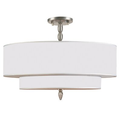 Luxo 5-Light Semi Flush Mount Finish: Satin Nickel