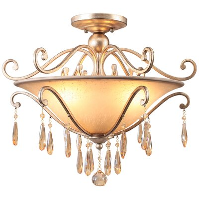 Avon 3-Light Semi Flush Mount