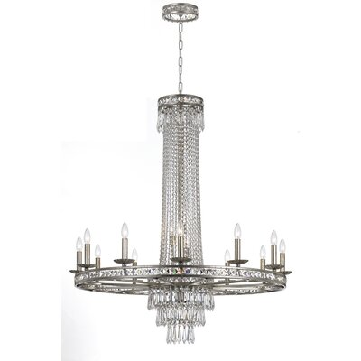 Markenfield 16-Light Crystal Chandelier Finish: Olde Silver