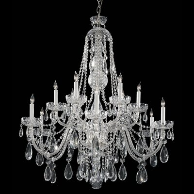 12-Light Crystal Chandelier Finish: Polished Chrome, Crystal Grade: Spectra