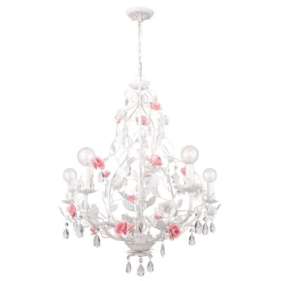 Lola 5-Light Candle-Style Chandelier 4856-WW