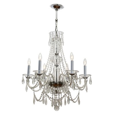 Barrymore 6-Light Candle-Style Chandelier