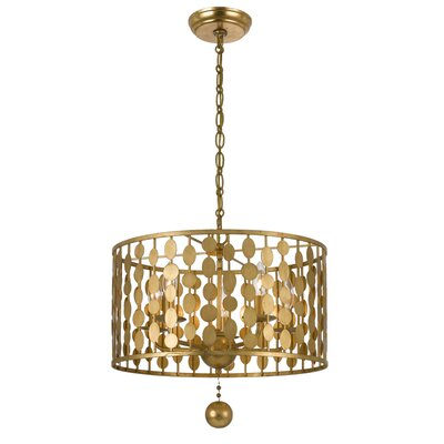 Charlesworth 5-Light Drum Chandelier Finish: Antique Gold