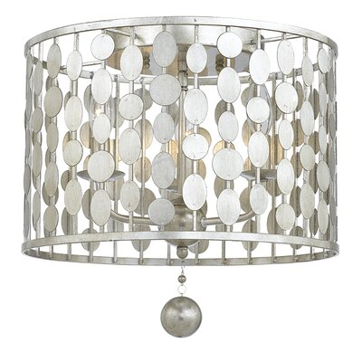 Quentin 3-Light Flush Mount Finish: Antique Silver
