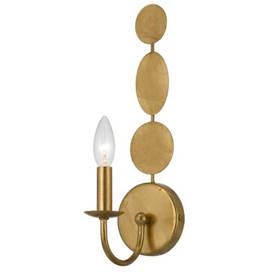 Quentin 1-Light Wall Sconce Finish: Antique Gold
