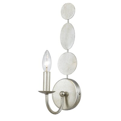 Quentin 1-Light Wall Sconce Finish: Antique Silver