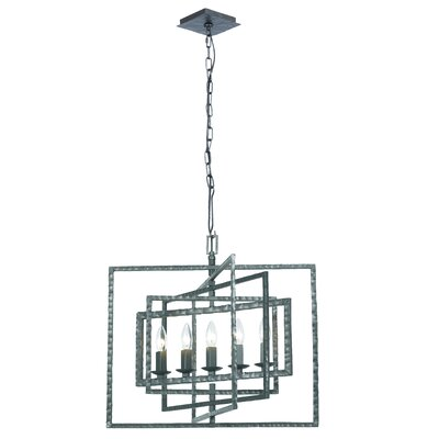 Kilmarnock 5-Light Foyer Pendant Finish: Gray