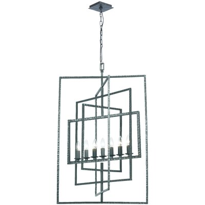 Capri 7-Light Foyer Pendant Finish: Gray