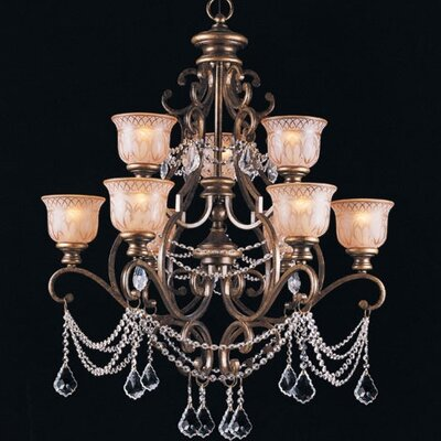 Tusten 9-Light Metal Shaded Chandelier Crystal Type: Clear Swarovski Strass