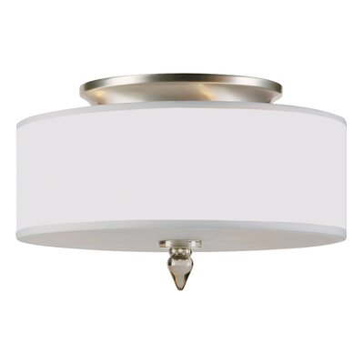 Luxo 3-Light Semi Flush Mount Finish: Satin Nickel