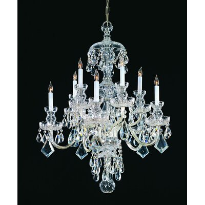 Bohemian 10 Light Candle Chandelier Crystal Type: Swarovski Strass, Finish: Chrome